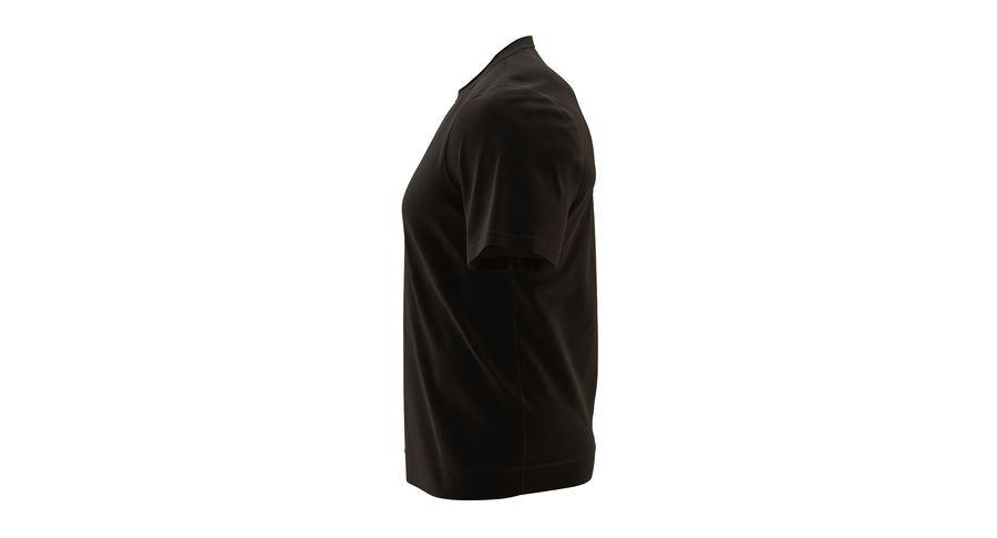 Czarny t-shirt royalty-free 3d model - Preview no. 11