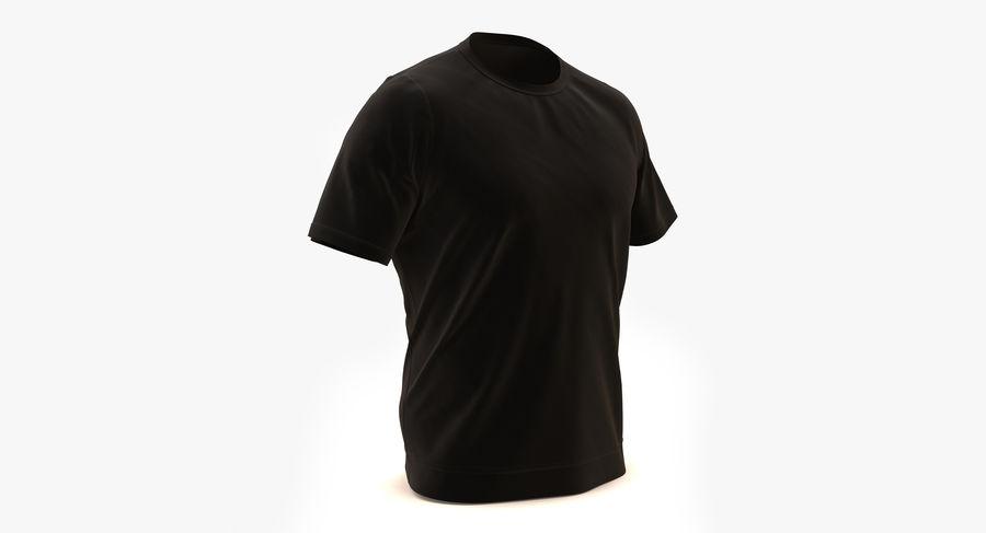 Czarny t-shirt royalty-free 3d model - Preview no. 3