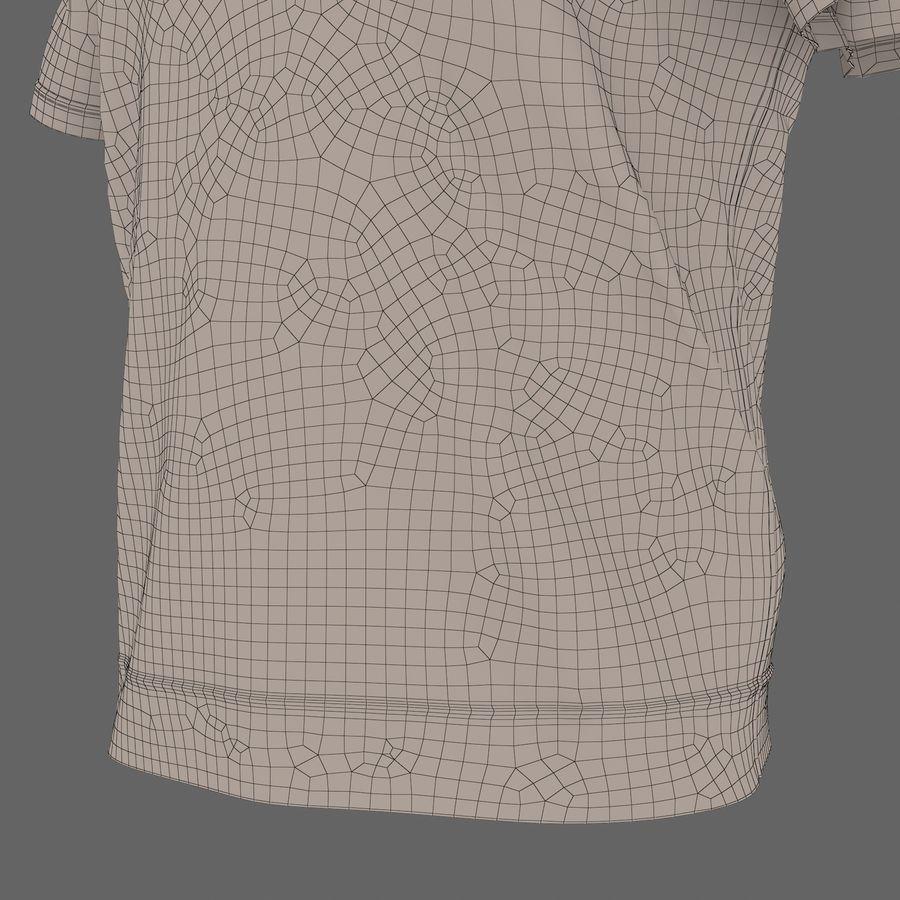 Czarny t-shirt royalty-free 3d model - Preview no. 32