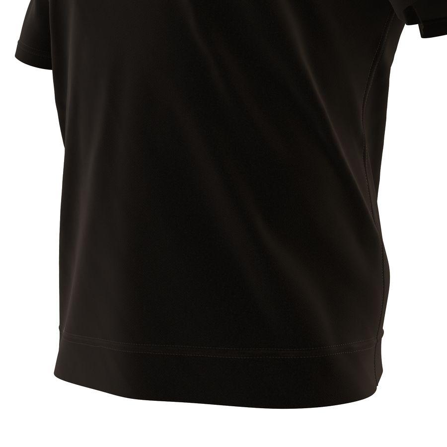 Czarny t-shirt royalty-free 3d model - Preview no. 18