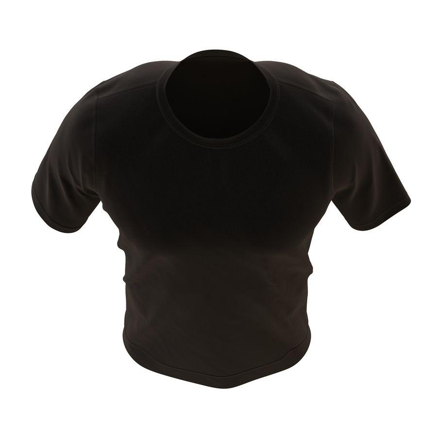 Czarny t-shirt royalty-free 3d model - Preview no. 12