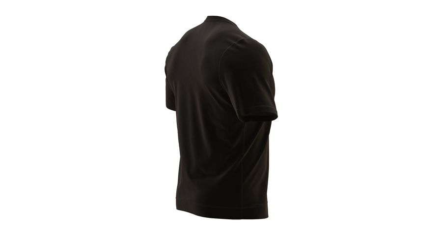 Czarny t-shirt royalty-free 3d model - Preview no. 8