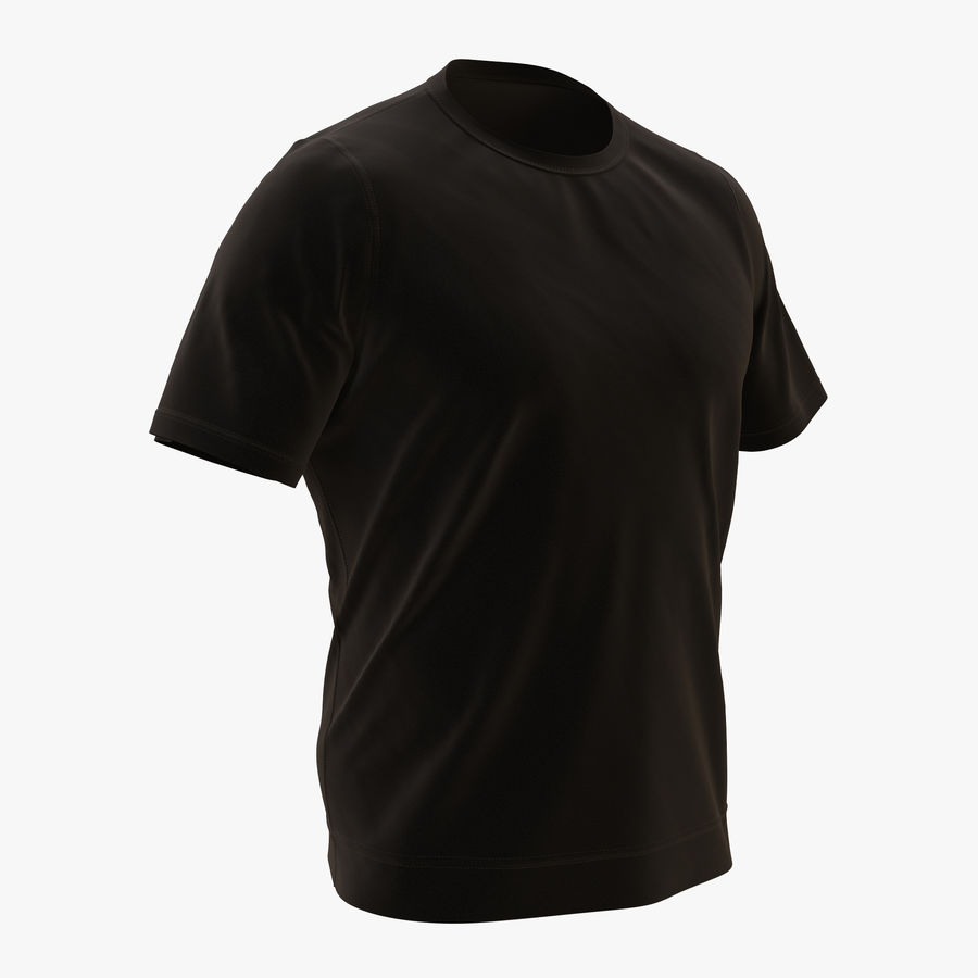 Czarny t-shirt royalty-free 3d model - Preview no. 1