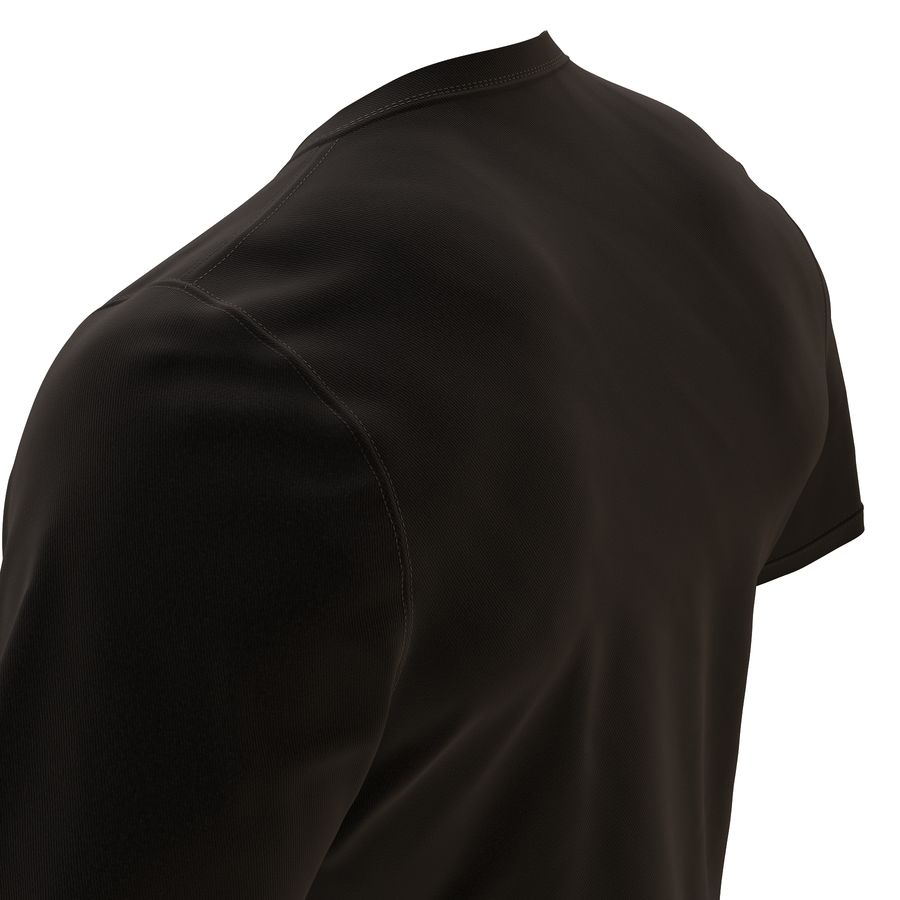 Czarny t-shirt royalty-free 3d model - Preview no. 16