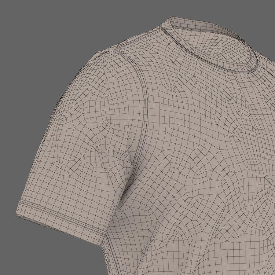 Czarny t-shirt royalty-free 3d model - Preview no. 30