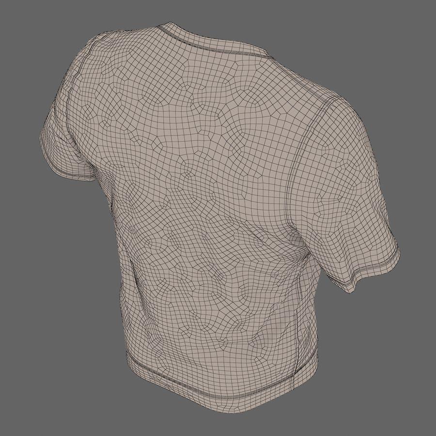 Czarny t-shirt royalty-free 3d model - Preview no. 28