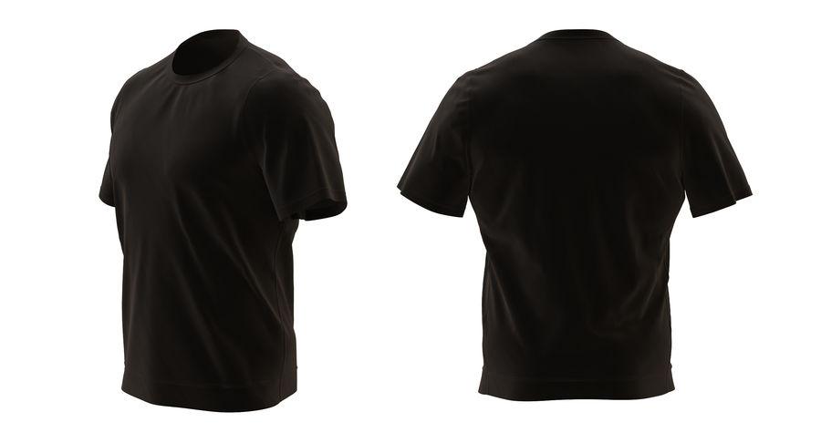 Czarny t-shirt royalty-free 3d model - Preview no. 4
