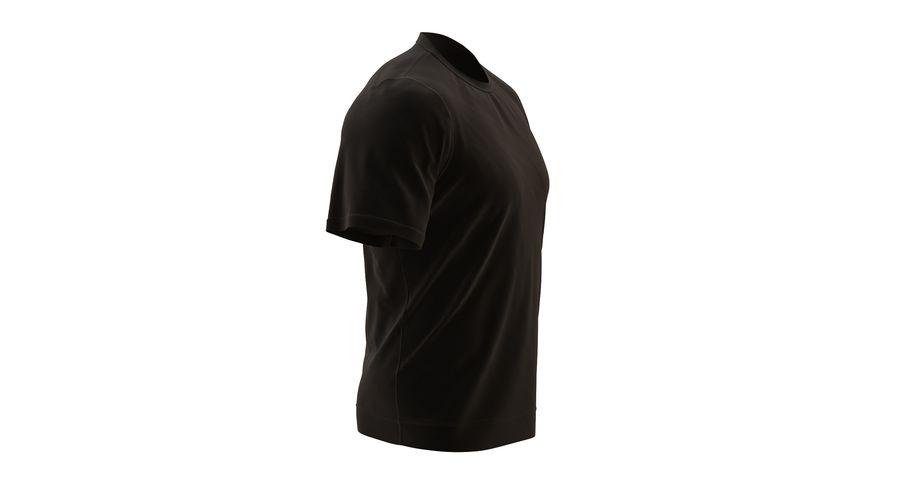Czarny t-shirt royalty-free 3d model - Preview no. 7