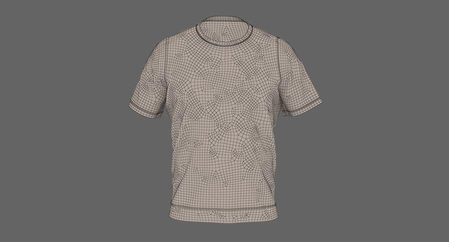 Czarny t-shirt royalty-free 3d model - Preview no. 24