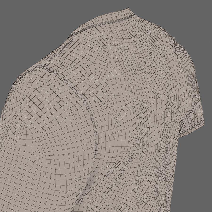 Czarny t-shirt royalty-free 3d model - Preview no. 31