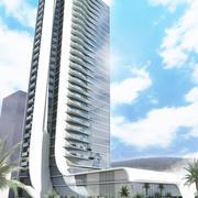 Forma organiczna wieżowca 3d model