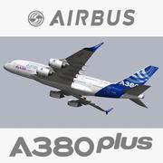 空中客车A380 Plus 3d model