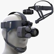 Noktowizor Monokular + Zestaw do montażu na głowie 3d model