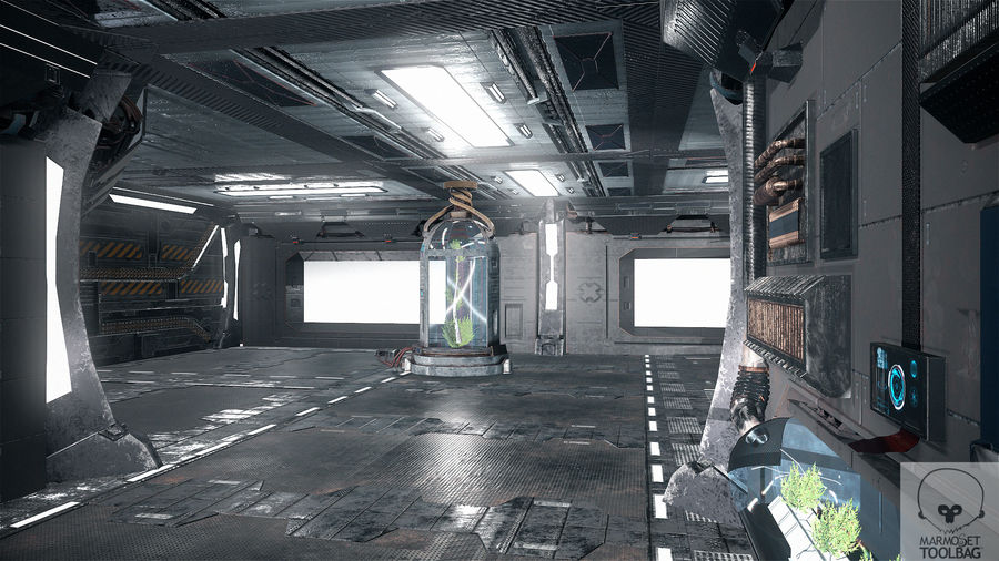 Laboratory Background Anime
