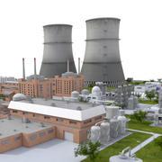 Kärnkraftverk 3d model