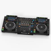 Profesjonalny DJ Media Player i Mixer Pioneer 3d model