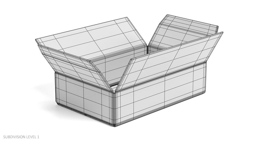 Cardboard Boxes royalty-free 3d model - Preview no. 21