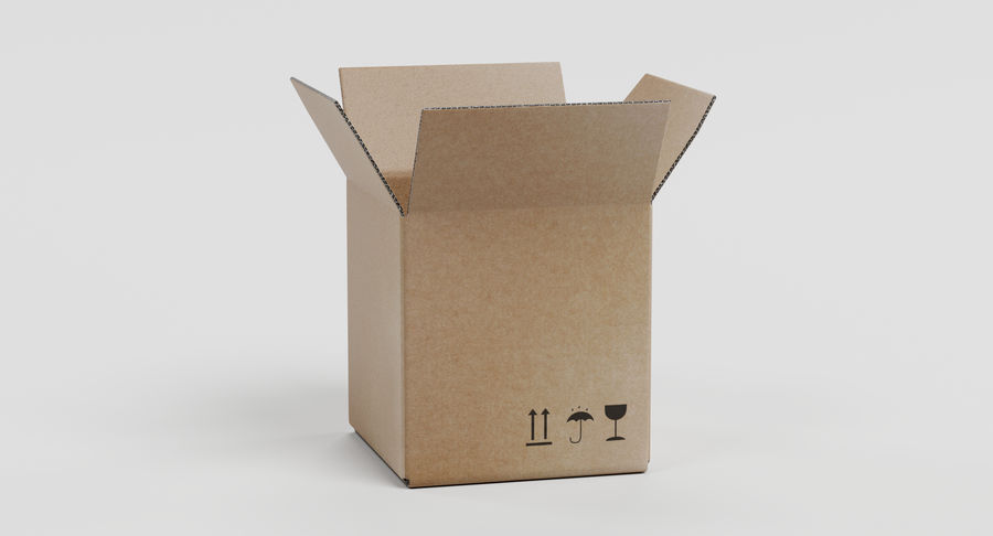 Cardboard Boxes royalty-free 3d model - Preview no. 7