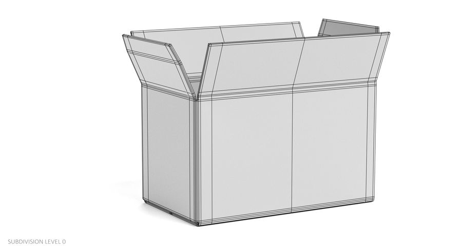 Cardboard Boxes royalty-free 3d model - Preview no. 16