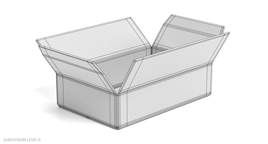 Cardboard Boxes royalty-free 3d model - Preview no. 20