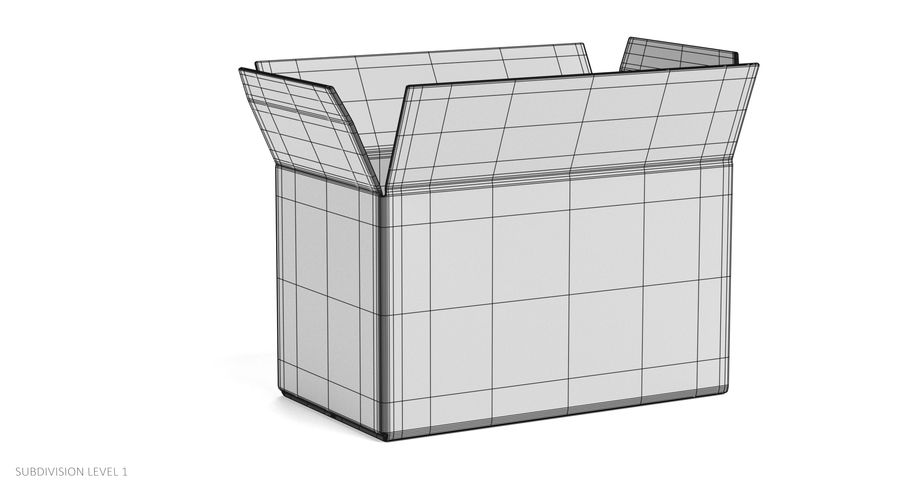 Cardboard Boxes royalty-free 3d model - Preview no. 17