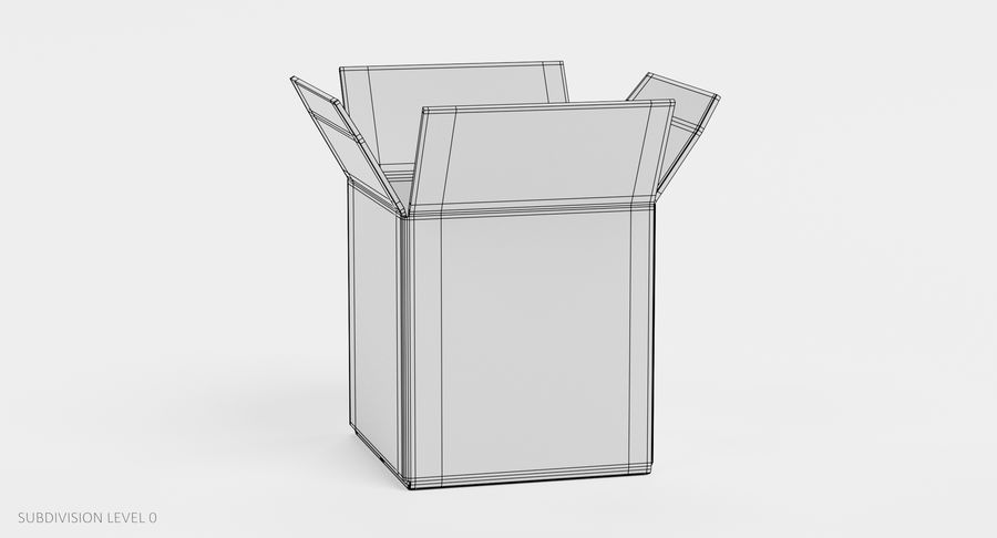 Cardboard Boxes royalty-free 3d model - Preview no. 18