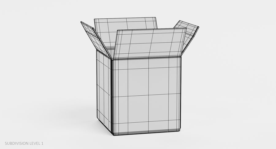 Cardboard Boxes royalty-free 3d model - Preview no. 19
