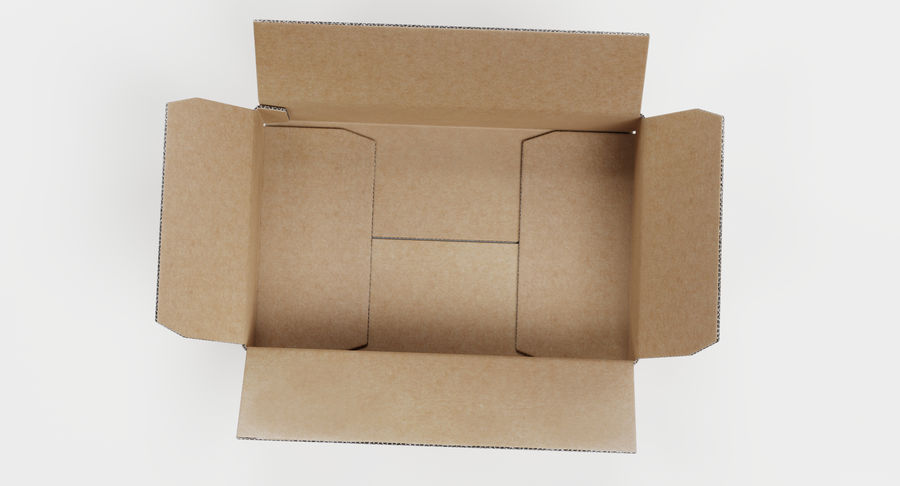 Cardboard Boxes royalty-free 3d model - Preview no. 11