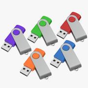 Promosyon USB Bellekler 03 Açık Maketler Koleksiyonu 3d model