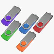 Promosyon USB Bellekler 03 Kapalı Modeller Koleksiyonu 3d model