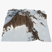 Mountain with Snow 2 3d model