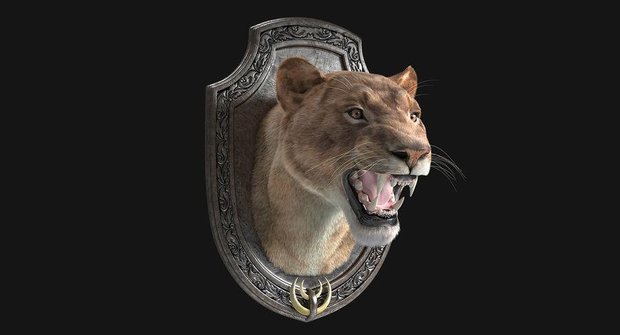 Lion Trophy royalty-free 3d model - Preview no. 4