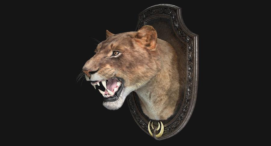 Lion Trophy royalty-free 3d model - Preview no. 5