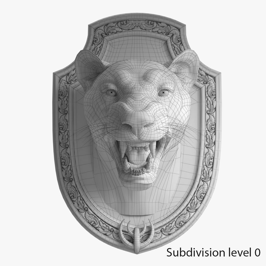 Lion Trophy royalty-free 3d model - Preview no. 14