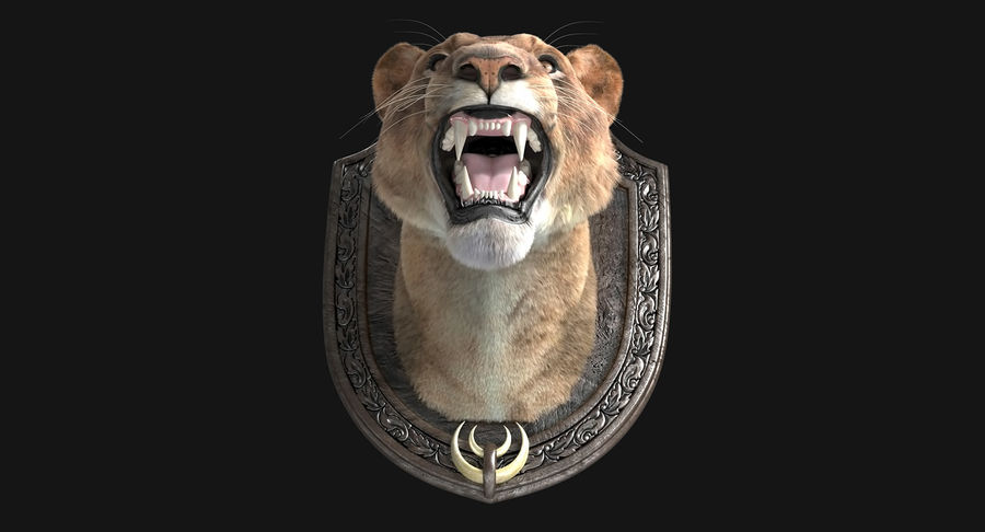 Lion Trophy royalty-free 3d model - Preview no. 7