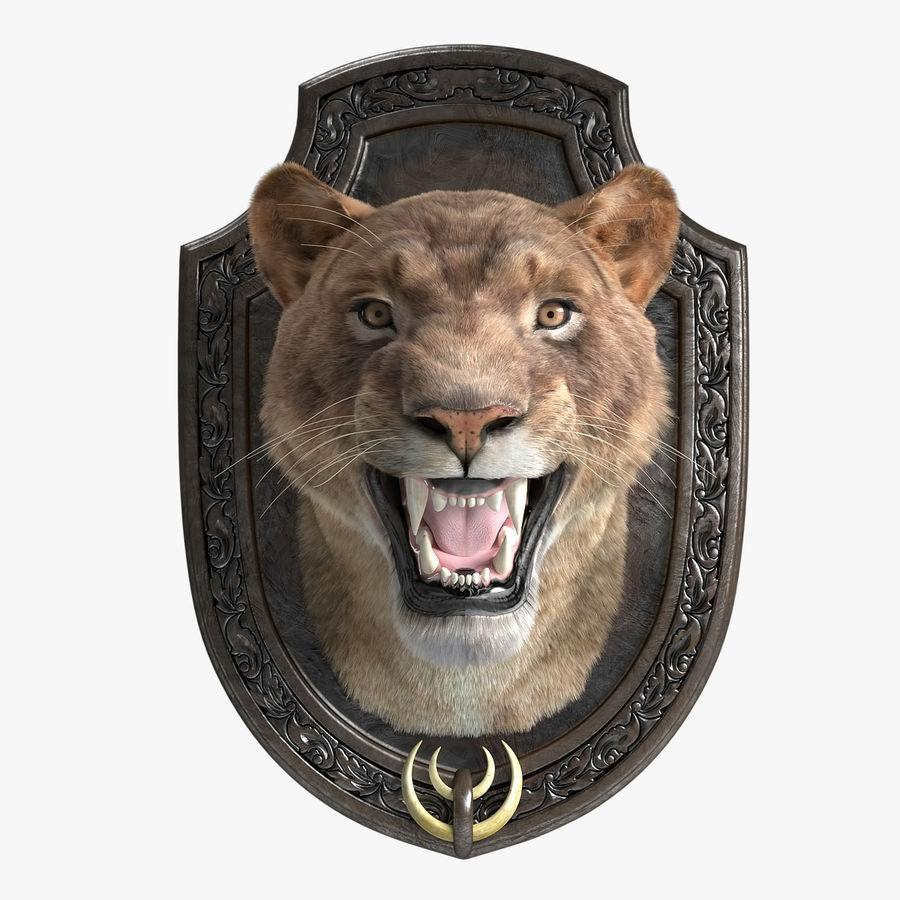 Lion Trophy royalty-free 3d model - Preview no. 1