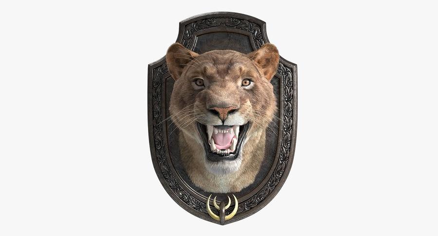 Lion Trophy royalty-free 3d model - Preview no. 2