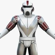Armatura di fantascienza 3d model