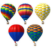 Hot Air Balloon Collection 3d model