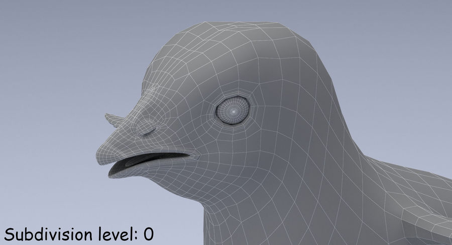Chick royalty-free 3d model - Preview no. 19