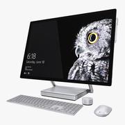 Tudo em um PC Microsoft Surface Studio 3d model