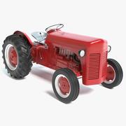 Roter Traktor 3d model