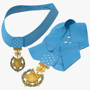 Медаль Почета Позы Военно-воздушных сил 3d model