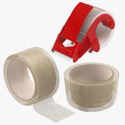 Verpakkingstape Doorzichtige verzameling 3d model