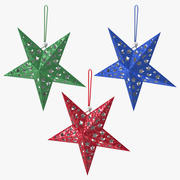 Star Ornaments Collection 3d model