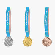 Olympic Medal Gold Silver Bronze 2018 Pyeongchang 3d model