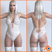 Mujer13_ (Licuadora) modelo 3d
