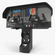 Licht vliegtuig bedieningspaneel 3d model