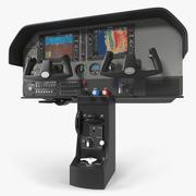 가벼운 비행기 제어판 3d model