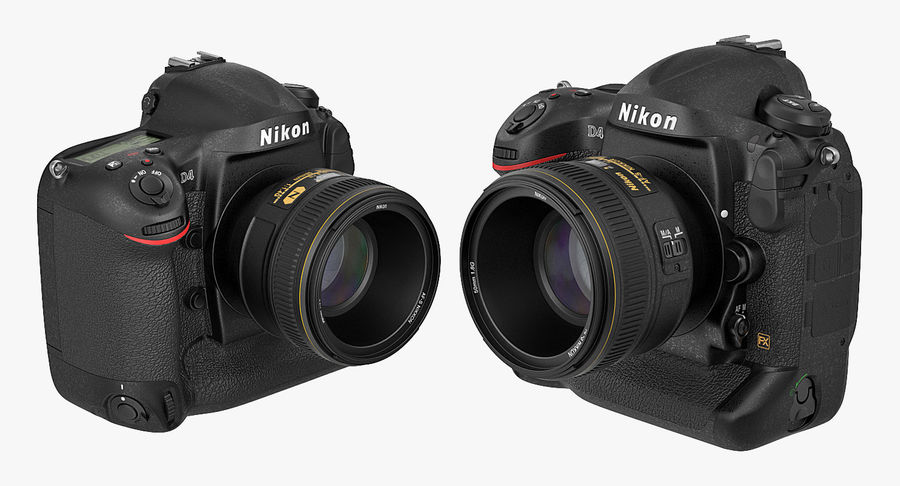 Nikon D4 3D 모델 royalty-free 3d model - Preview no. 7